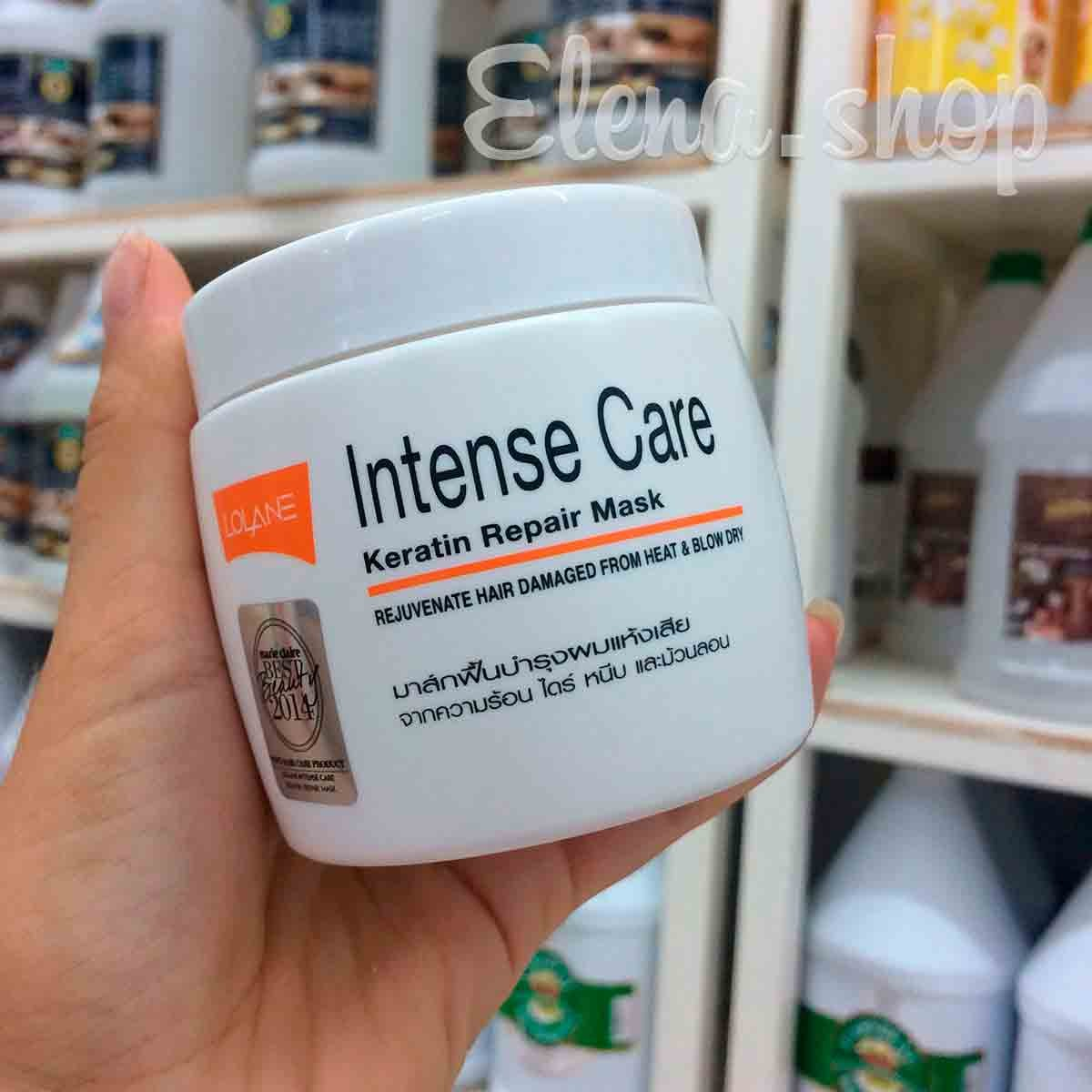 Маска кератиновая для восстановления поврежденных волос Lolane Intense Care