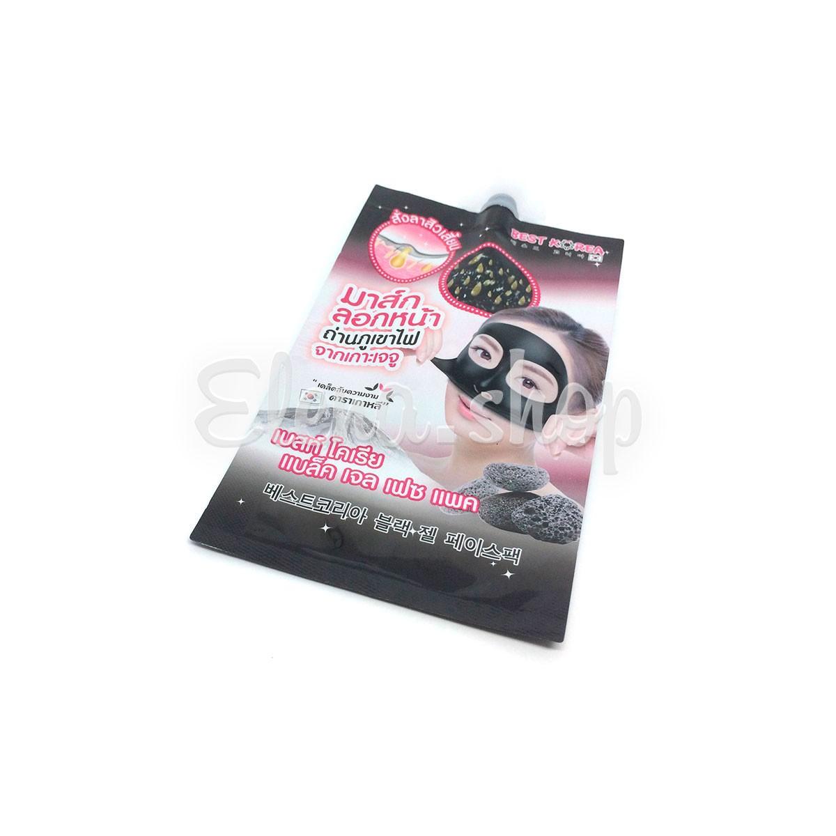 Корейская маска для лица Best Korea Black Gel Face Pack