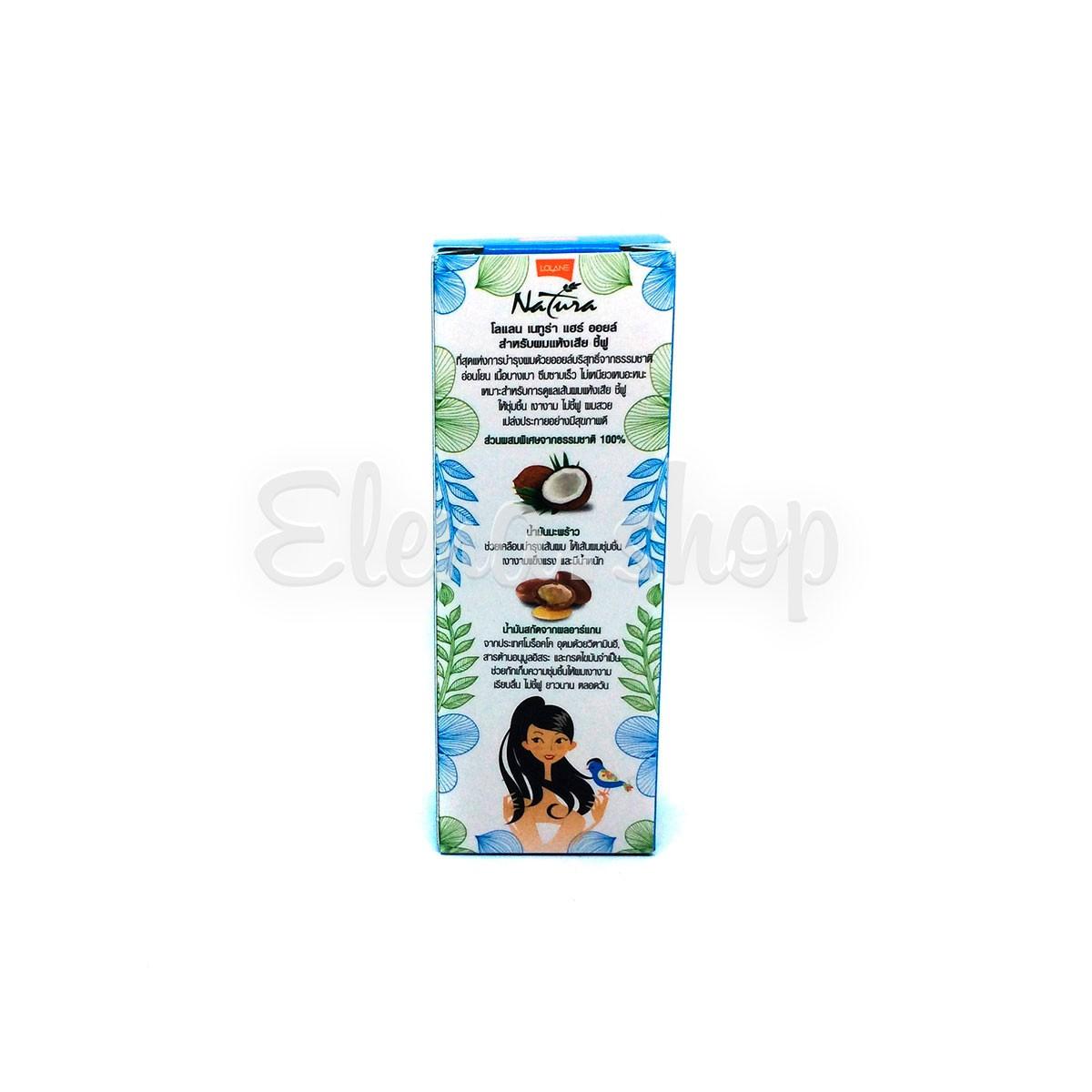 Масло для сухих и поврежденных волос на основе кокосового масла Lolane Natura