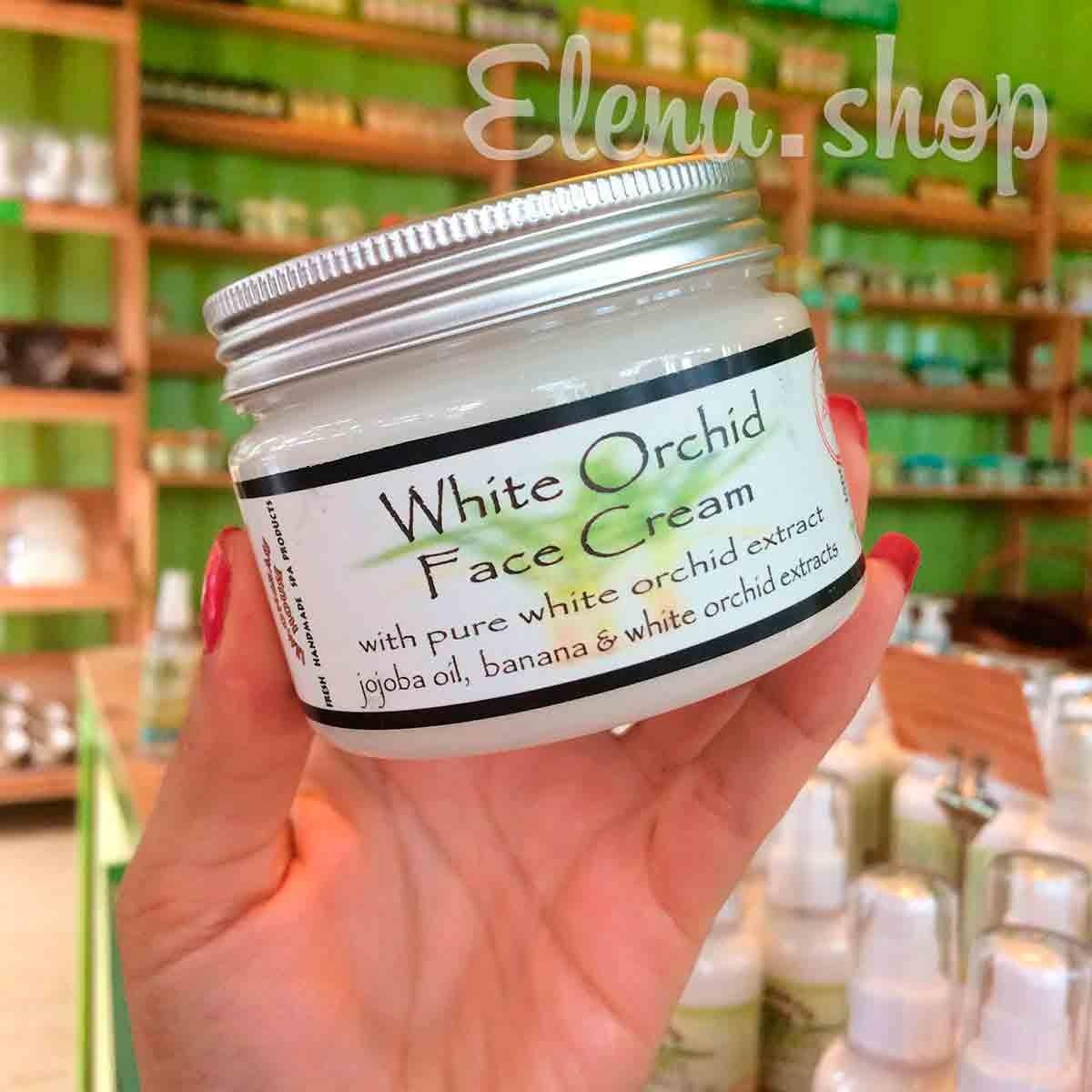 Крем для лица с экстрактом Белой орхидеи для комбинированной кожи от Lemongrass House
