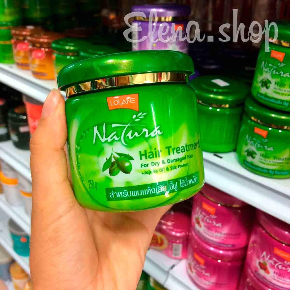 Питательная маска для сухих волос с маслом Жожоба от Lolane Natura